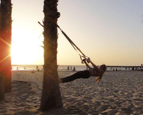 אימון אישי לדוגמא בחוף הים בהרצליה