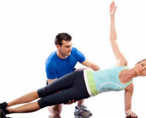 אימון בטן עם מאמן