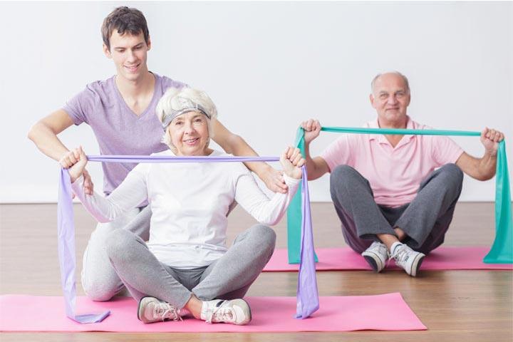 מאמן כושר אישי באימון מבוגרים