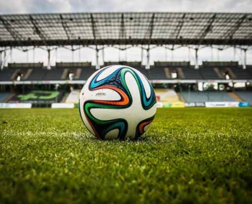 כדור כדורגל על הדשא